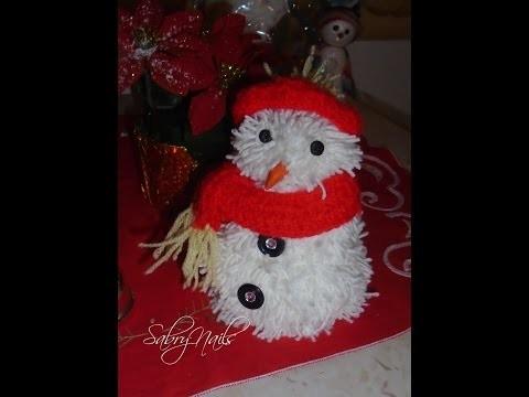 DIY :Pupazzo di neve (con la lana , decorazione natalizia )