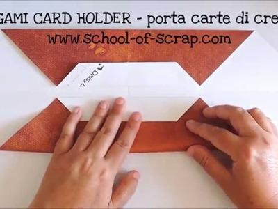 Come fare un porta carte di credito origami