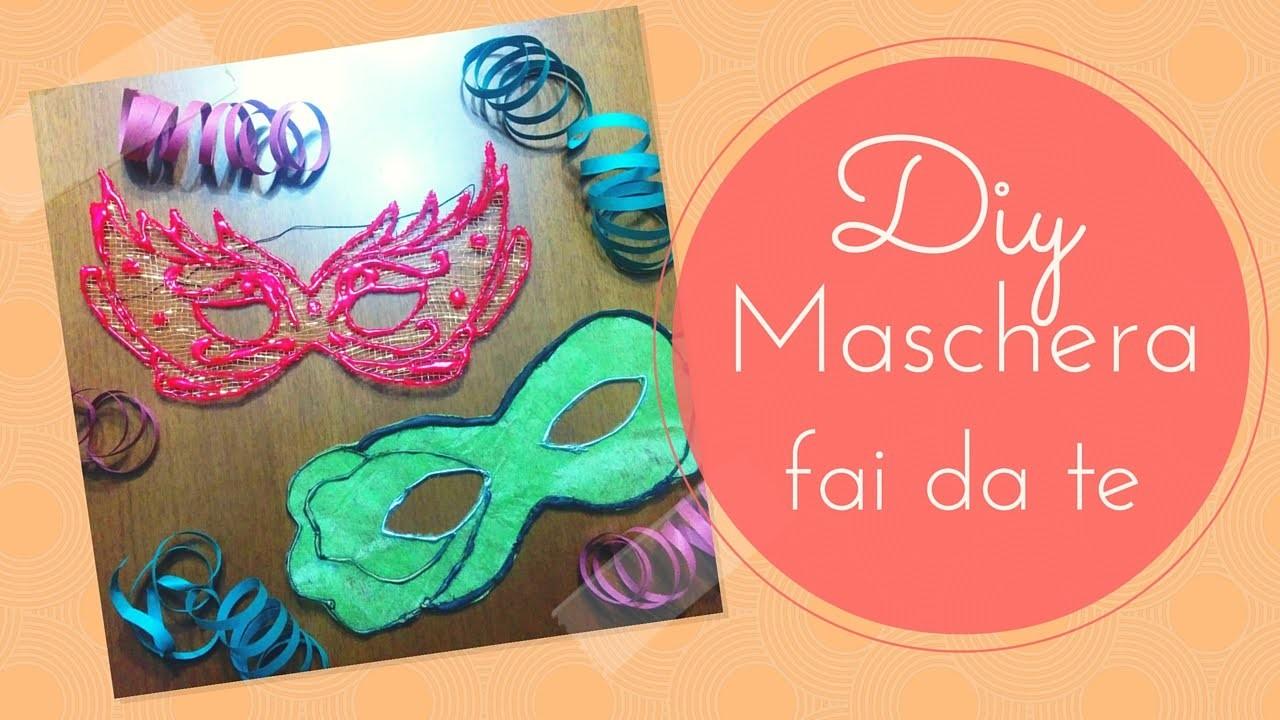 DIY Colla a caldo - Maschera di carnevale fai fa te