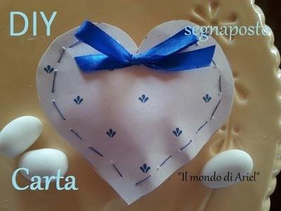 DIY cuore coppettino-segnaposto di carta cucito a mano,riciclo carta
