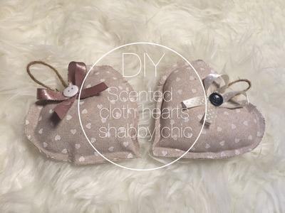 DIY scented cloth hearts shabby chic. cuori di stoffa profumati - Denilab