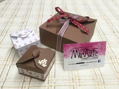 DIY tutorial scatola quadrata scrap Bijoux con Envelope Punch Board
