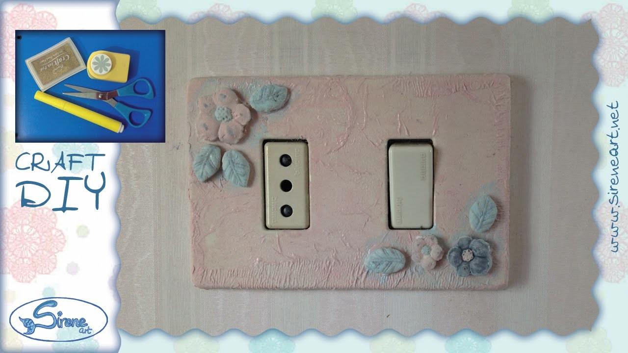 Tutorial ☆ Decorazione placca interruttore ☆ [light switch cover decoration][ITA - ENG instructions]