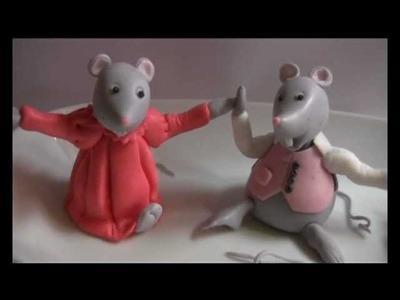 Tutorial topolini in pasta di zucchero decorazioni ,tuto sur les petites souris , tutorial mouse