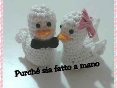 Paperotto.Pulcino AMIGURUMI all'uncinetto - Crochet Duck.Chick