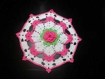 Crochet Uncinetto Centrino Fiore di Ciliegio
