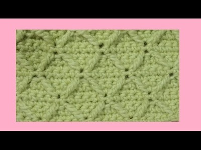 Punto diamante ( o rombo ) all'uncinetto - crochet  diamond stitch
