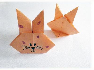 D.I.Y. Coniglietto di carta origami per la Pasqua - Origami Easter Bunny!