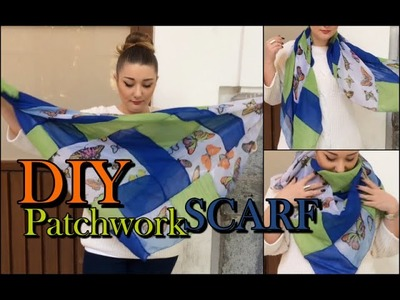 DIY PATCHWORK SCARF - Tutorial Sciarpa Patchwork | FASHION THERAPY