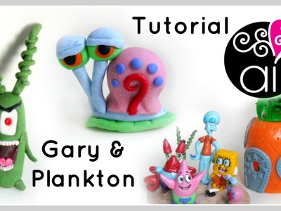 Gary & Plankton | Polymer Clay Tutorial | Cake Topper DIY