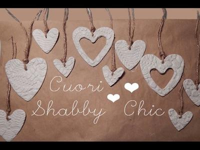 DIY: Cuori Shabby Chic con pasta di borotalco