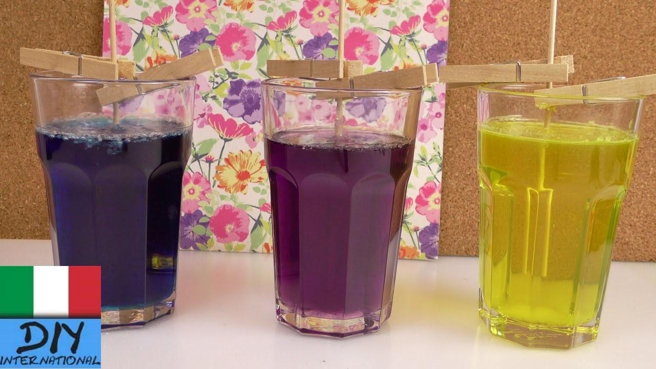 Dolci fai da te. Parte 1 DIY cristalli di zucchero. Rock Candys colorate fai da te
