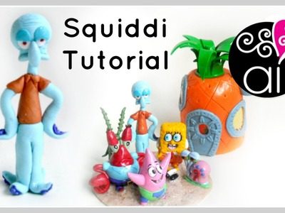 Squiddi | Polymer Clay Tutorial | Cake Topper DIY
