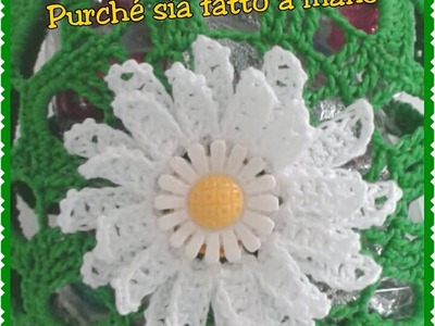 Margherita a rilievo all'uncinetto - Crochet a Daisy