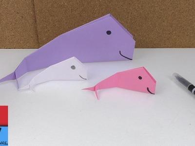 Balena origami. una balena di carta. origami tutorial