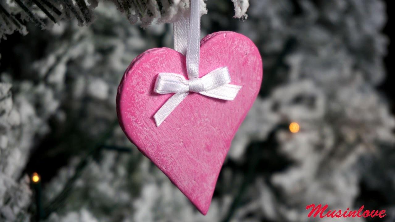 Cuore in pasta di Mais Decorazioni per l'albero di Natale Tutorial Musinlove