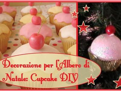 Decorazioni per l'Albero di Natale Fai da Te - Cupcake Fai da Te. DIY cupcake xmas tree decoration