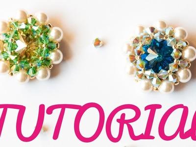 DIY Tutorial Modulo FREEDOM Incastonatura Raw con bicono e perle