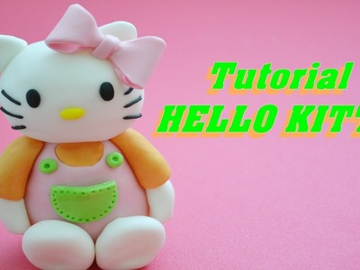 How to make HELLO KITTY cake topper fondant - tutorial torta pasta di zucchero