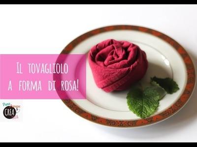 Matrimonio fai da te: il tovagliolo a forma di rosa