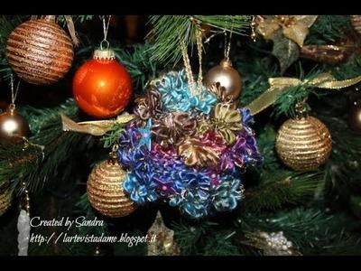 Pallina di Natale fai da te in lana - Tutorial decorazione natalizia - lartevistadame