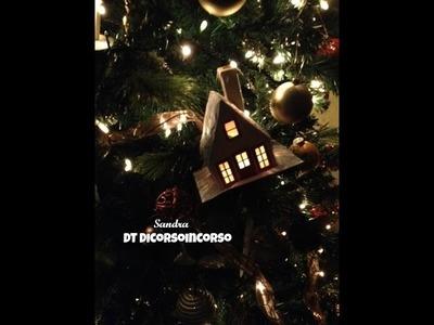 Putz House Tutorial-Silhouette Cameo-Decorazioni natalizie fai da te Casette 3D-Christmas Tree
