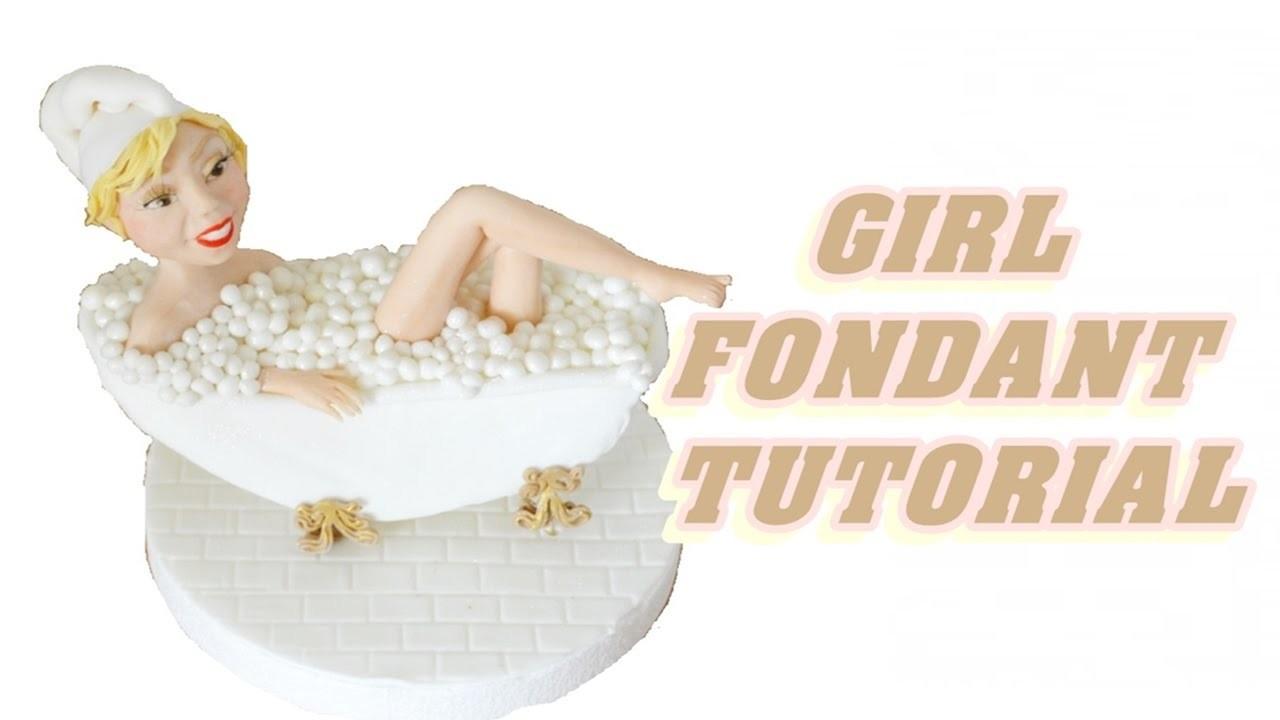 Tutorial GIRL CAKE TOPPER FONDANT sculpting a female viso e corpo in pasta di zucchero torta
