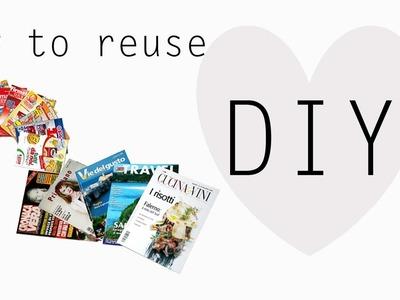 COME RIUTILIZZARE I GIORNALI.VOLANTINI PUBBLICITARI ♡ Recycling Newspapers