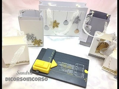 Gift Bag Punch Board Tutorial-Sacchetti di carta Fai da te-Christmas packaging-Natale fai da te