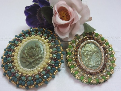 Part 2° tutorial embroidery brooches