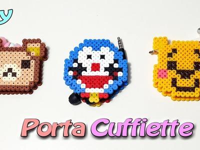 Porta Auricolare 3D Con PYSSLA (Hama Beads) Rilakkuma, Doraemon ,Winnie the Pooh Tutorial ★