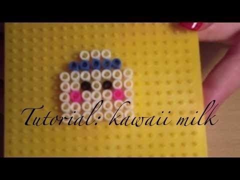 Tutorial #8 cartoncino latte kawaii in pyssla (ep. 1)