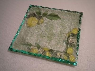 Tutorial: Decoupage su piatto in vetro con vetrificazione