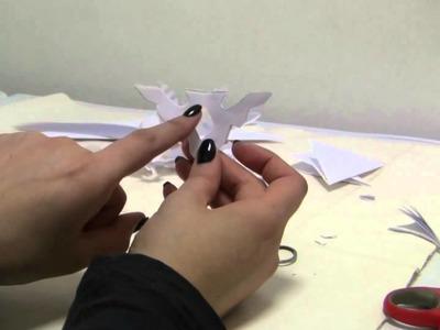 Tutorial per creare fiocchi di neve e decorazioni con la carta (snowflake with paper ita)