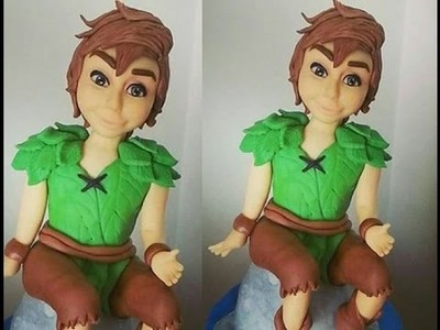 Tutorial Peter Pan Cake topper pasta di zucchero torte decorate fondant