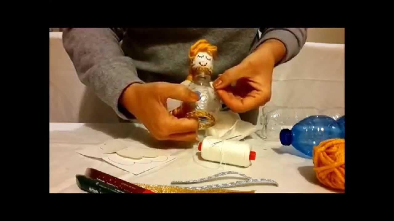 Tutorial Angioletti natalizi fatti con materiale riciclato - Decorazioni natalizie
