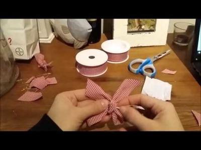 Come Fare un Fiocco di Nastro per l'Albero di Natale