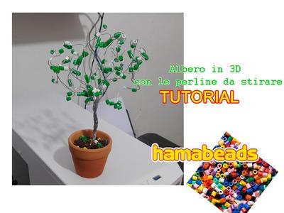 Come realizzare un albero in 3D con le perline da stirare