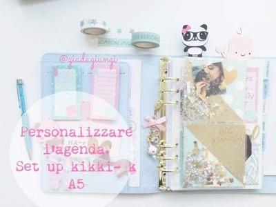 Personalizzare l'agenda- set up Kikki-K A5