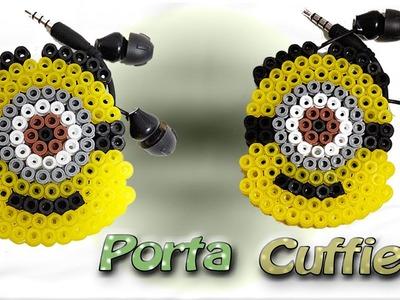 Porta Cuffie. Auricolari Con PYSSLA.Hama Beads Cord Organizers Minions★