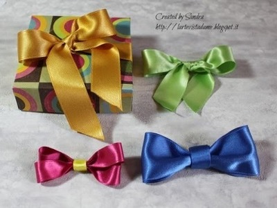 Tutorial fiocchi in raso - Satin bows Tutorial