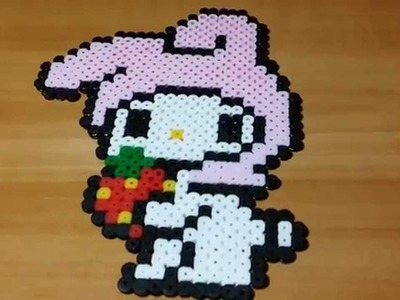 Tutorial My Melody con le pyssla - hama beads  !!