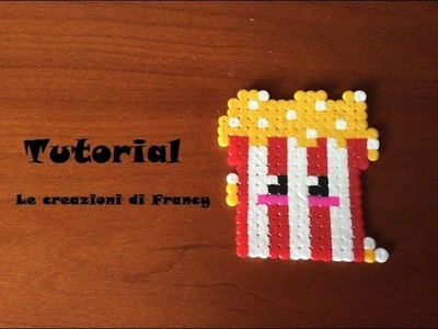 Tutorial Pop Corn Kawaii in Pyssla
