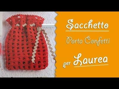 VIDEO-TUTORIAL sacchetto porta confetti per laurea2.2