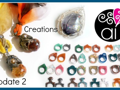 Creations Update 2 di 2 | Polymer Clay | Resina | Wire Wrapping