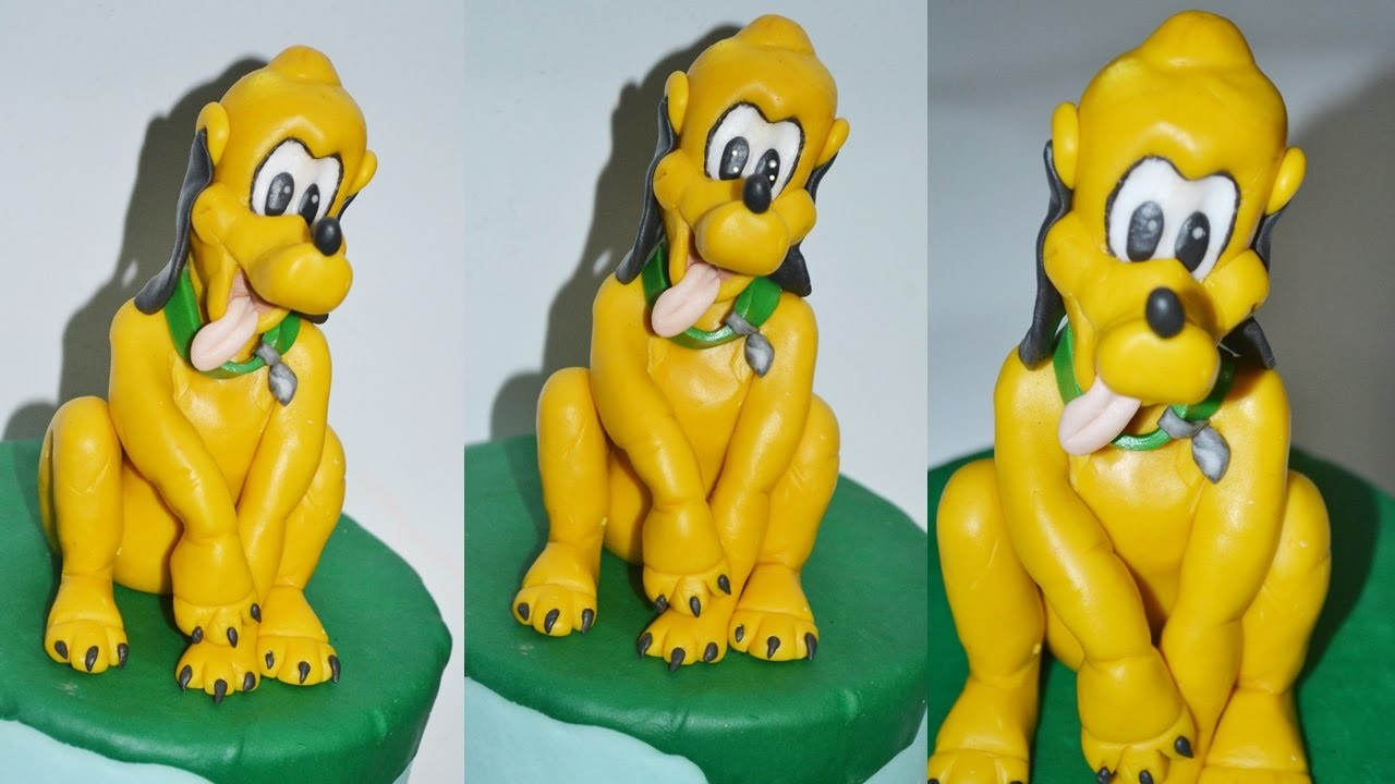 How to make Pluto cake topper fondant sugar paste torta pasta di zucchero