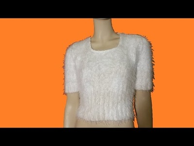 """Maglia ai ferri morbidissima """"soft Spring"""" - kinitted t-shirt - camiseta a dos agujas"""