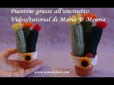 Piantine grasse mignon all'uncinetto - Succulent plants