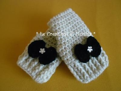 TUTORIAL.  come realizzare dei guanti a mezze dita per bimbi a uncinetto !!!