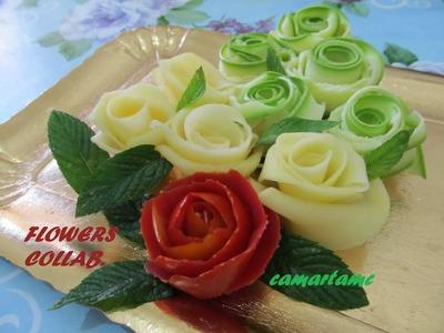 TUTORIAL: come realizzare le ROSE con le verdure FLOWERS COLLAB ft BeaOsaki e Ayvlis Make Nails